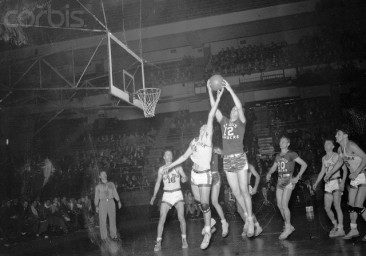 Frido Frey and Don Martin Jumping for Ball