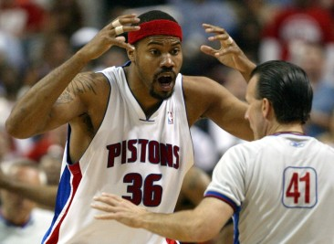 Rasheed Wallace dans un de ses moments favoris