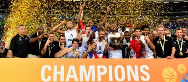 Le titre de champion d'Europe de la France en 2013. (c) Jure Makovec AFP