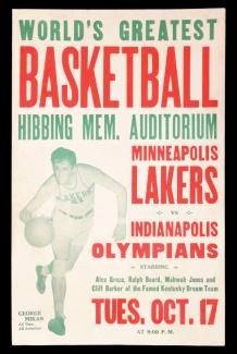 Affiche pour la rencontre Olympians vs Lakers
