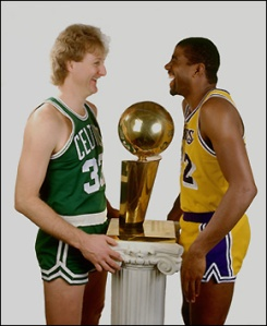 Larry Bird et Magic Johnson (c) nba.com