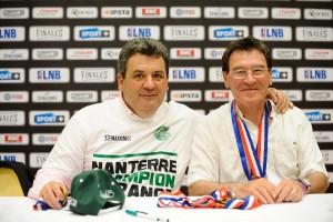 Pascal et Jean Donnadieu, deux grands acteurs de la JSF Nanterre (c) lnb.fr