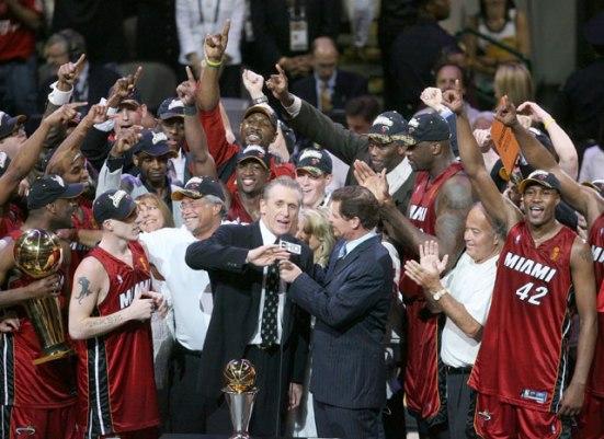 Pat Riley champion NBA Miami (c) Si - John Biever