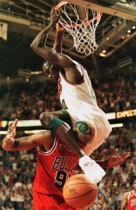 Kemp vs Rodman lors des finales 1996