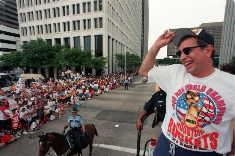 Rudy T célèbre son 2e titre NBA (c) Houstonchronicle