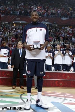 Kevin Durant MVP du Mondial 2010 (c) FIBA - Elio Castoria