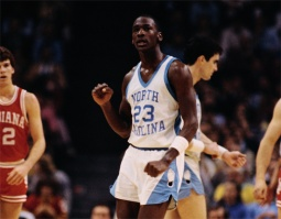 Jordan - North Carolina serrant le poing (c)lostletterman com