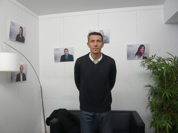 Laurent Sciarra dans les locaux d'Eurosport (c) RS