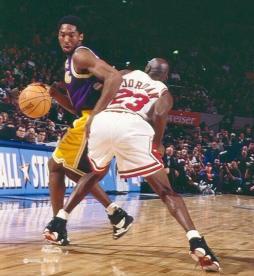 Jordan vs Kobe au All Star Game 1998 (c) Iconic Sports