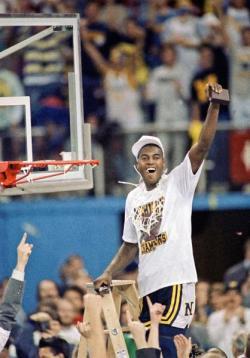 Glen Rice après le match Michigan - Seton Hall en 1989 (c) AP - David Longstreath