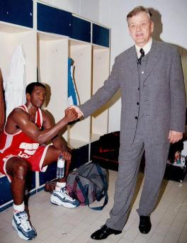 David Rivers avec son ex-coach à Olympiakos Dusan Ivkovic (c) Twitter