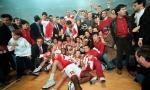 David Rivers offre � l'Olympiakos son premier titre d'Euroligue en 1997