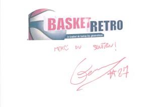 Signature de Rudy Gobert pour Basket Rétro