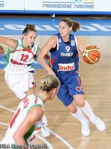 Audrey Sauret en action avec l'équipe de France lors de l'Euro 2007 (c) FIBA Europe - Castoria