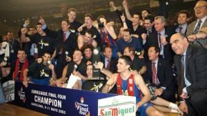 Barcelone vainqueur de l'Euroligue en 2003 (c) Fcbarcelona.com