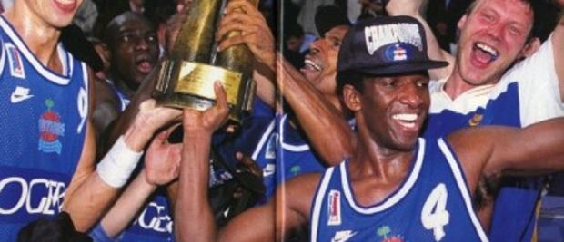 Premier titre dans une ligue majeure avec Antibes en 1995 !!!