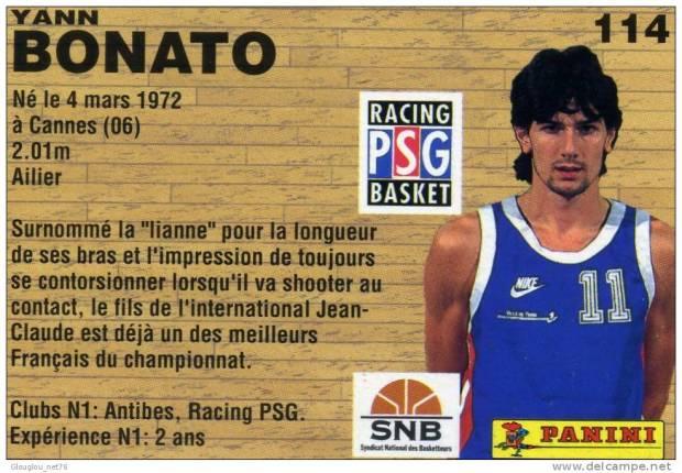 Yann Bonato, entrainé par Chris Singleton au PSG Racing (c) delcampe.net
