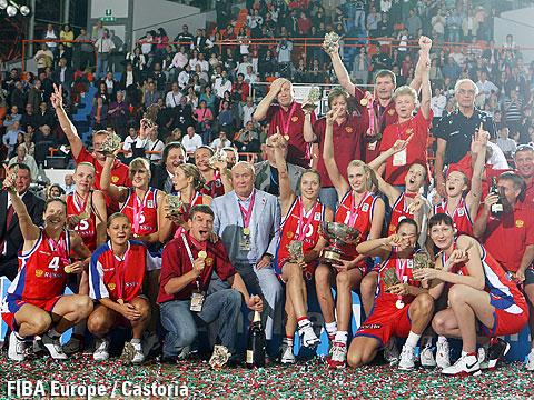 Russie, championne d'Europe 2007 (c) Fiba Europe - Castoria