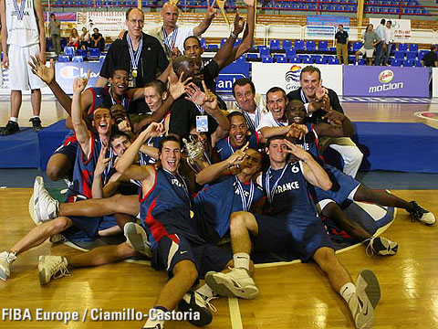 La France championne d'Europe Juniors en 2006 (c) Fiba Europe - Castoria-Chamillo
