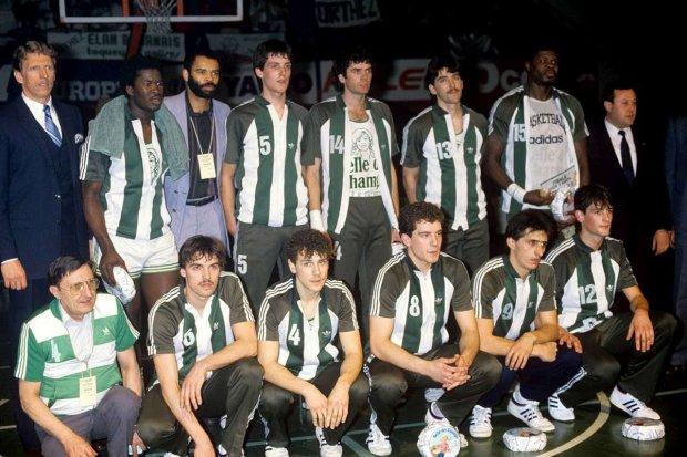 L'équipe de Orthez en 1984 avec Freddy Hufnagel (c) photo archives Sud Ouest