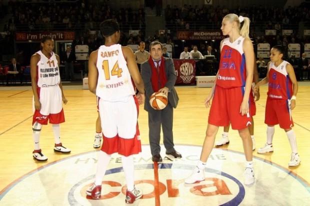 L'ESBVA affrontait le CSKA Moscou de Maria Stépanova et Edwige Lawson en Euroligue en 2008 (c) esbvalm.fr