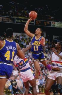Un career highlight en finale de conférence 92' face aux Blazers - © nba.com