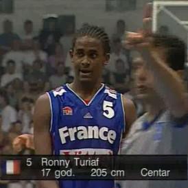 Ronny Turiaf, héros de la finale à l'Euro Juniors en 2000 (c) bballchannel.fr