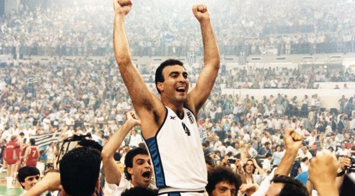 Nikos Galis, vainqueur de l'Euro 1987 avec la Grèce (c)Fiba