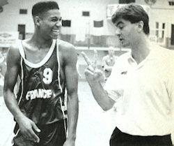 Olivier Saint Jean en compagnie de son coach Jean-Pierre De Vincenzi
