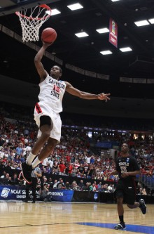 Kawhi Leonard - San Diego State lors du tournoi NCAA 2011 contre Temple (c) Christian Petersen - Getty Images North America