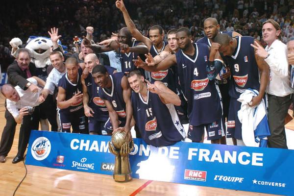 Roanne et Marc Salyers, champion de France 2007 (c) lnb.fr