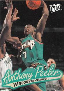 Anthony Peeler - Vancouver Grizzlies (c) Tradingcarddb.com