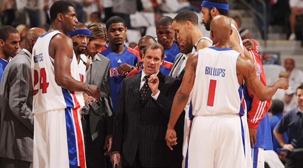 Flip Saunders coach des Detroit Pistons de 2005 à 2008 (c) si.com
