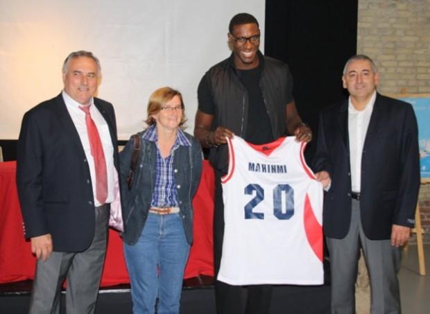 Ian Mahinmi - retour au STB Le Havre 2011 (c) basketactu.com