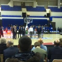 L'avant-match avec l'arrivée de Hervé (c) Basket Retro - RS