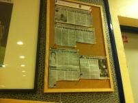Salle VIP avec les coupures de presse sur le Dub (c) Basket Retro - RS