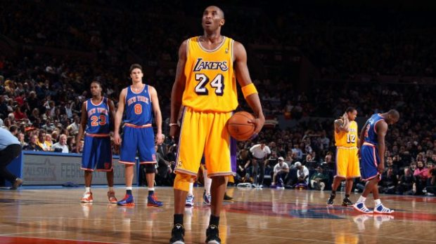 Kobe Bryant face aux Knicks au Madison Square Garden en 2011 (c) BUTLER - GETTY