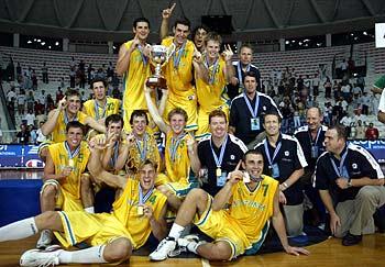 L'Australie championne du monde junior en 2003 (c) AFP