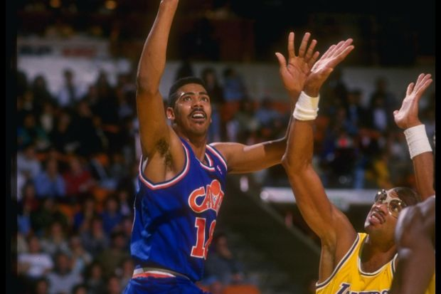 John Hot Rod Williams - Cleveland Cavaliers contre Abdul-Jabbar (c) Mike Powell - Getty
