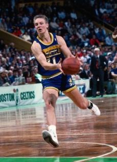 Detlef Schrempf en action en 1989 au Boston Garden - Indiana Pacers (c) Pacers photos
