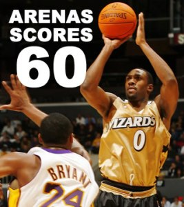 Gilbert Arenas - 60 points avec les Wizards vs Lakers (c) nba.com