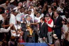 Hakeem Olajuwon champion NBA 1994 avec Houston (c) Houston Chronicle