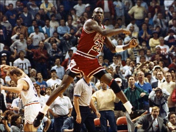 "Jordan après ""The Shot"" @ NBAE / Getty Images"