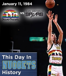 Kiki Vandeweghe - 50 points avec Denver le 11 janvier 1984 (c) nba.com