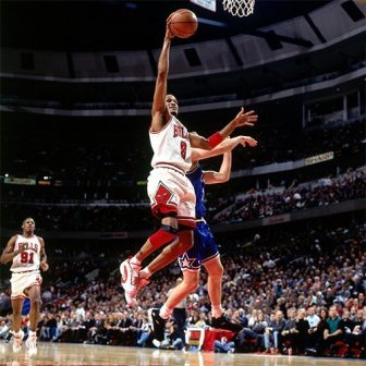 Ron Harper au lay-up @ Getty Image