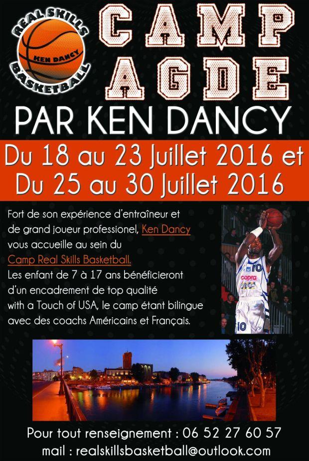 Affiche Camp de Basket Agde - Juillet 2016