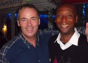 Ken Dancy avec Hervé Dubuisson, deux anciens partenaires du Stade Français