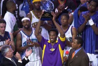Kobe Bryant MVP du All-Star Game en 2002 (c) Getty