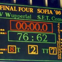 Résultat de la finale de l'Euroligue entre Wuppertal et Come en 96 (c) nicotango.com