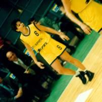 Sandy Brondello lors de l' Euroligue 1996 avec Wuppertal (c) Nicotango.com